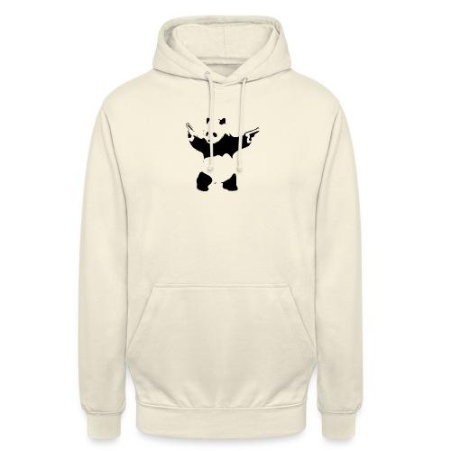 oso panda pistolas - Sudadera con capucha unisex