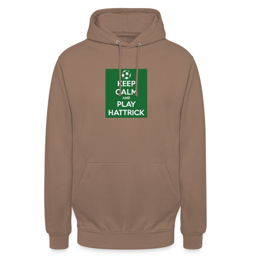 keep calm and play hattrick - Felpa con cappuccio unisex