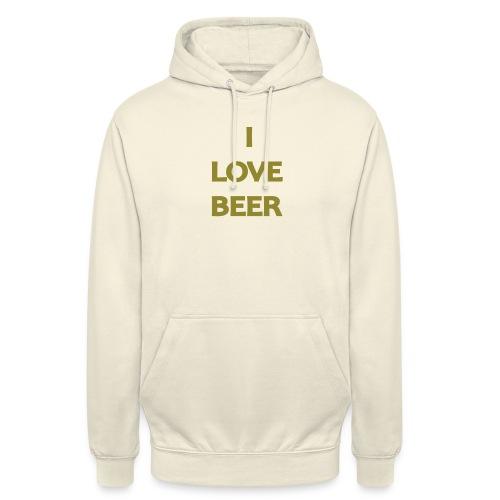 I LOVE BEER - Felpa con cappuccio unisex