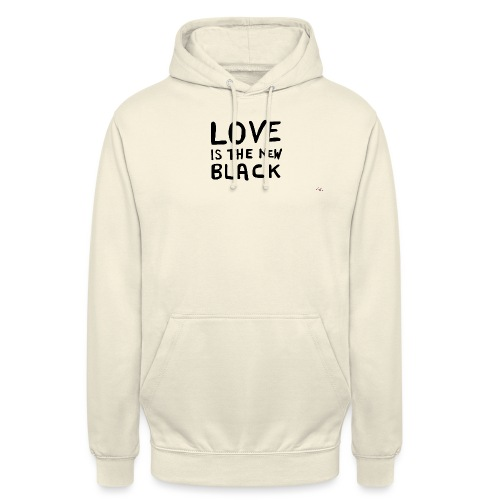 Love is the new black - Felpa con cappuccio unisex