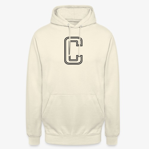 thiccc C logo WHITE - Unisex Hoodie