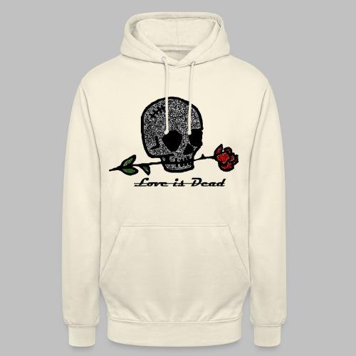 Love Is Dead Custom Skull Design - Hoodie unisex