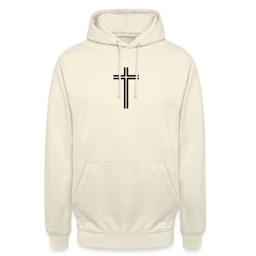 cross transparent line - Unisex-hettegenser