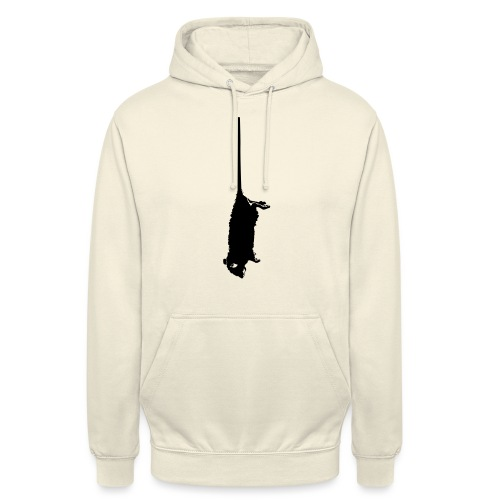 rat mort pendu - Sweat-shirt à capuche unisexe