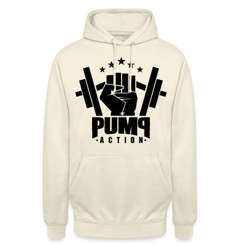 PUMP-ACTION LOGO BLACK - Unisex Hoodie