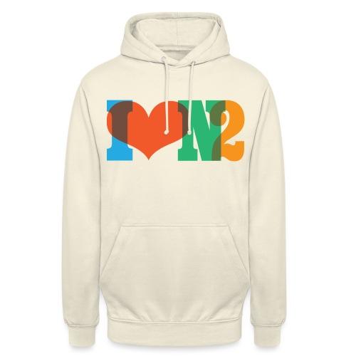 I LOVE N2 Summer Social Colours - Unisex Hoodie