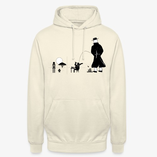 Pissing Man against a wasteful consumer society - Unisex Hoodie