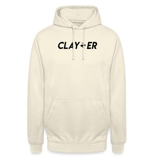 LOGO CLAYZER NOIR - Sweat-shirt à capuche unisexe
