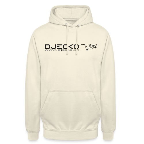 Logo rect noir txt et gecko - Sweat-shirt à capuche unisexe