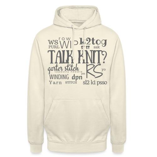 Talk Knit ?, gray - Unisex Hoodie