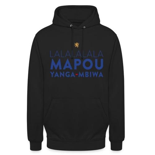 Mapou YANGA-MBIWA - Sweat-shirt à capuche unisexe