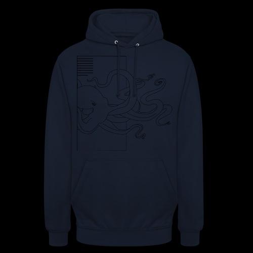 Tintenfisch-Logo Schwarz - Unisex Hoodie