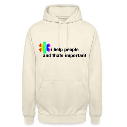 i help people - Hoodie unisex