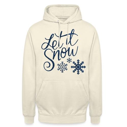 Let il snow Noël New shape fane design vintage - Sweat-shirt à capuche unisexe
