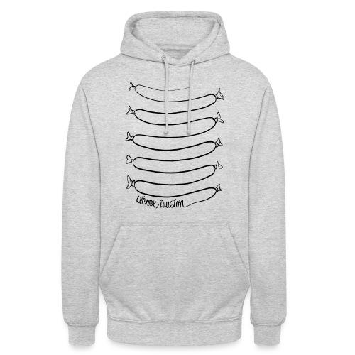 Wiener Illusion (schwarz auf weiß) - Unisex Hoodie