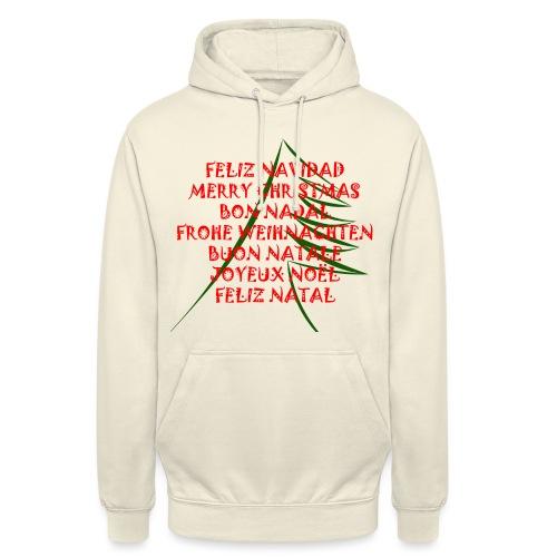 Feliz Navidad - Sudadera con capucha unisex