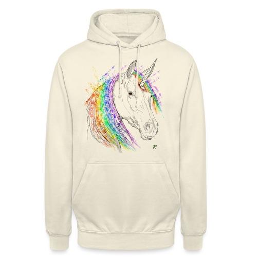 Unicorno - Felpa con cappuccio unisex