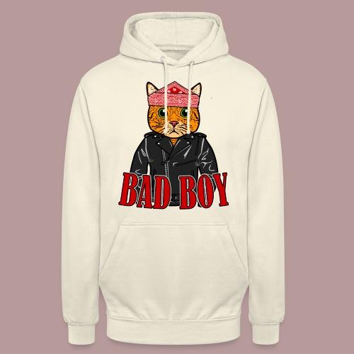 Bad boy chat roux rockeur - Sweat-shirt à capuche unisexe