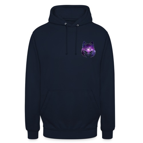 Galaxy wolf - Sweat-shirt à capuche unisexe