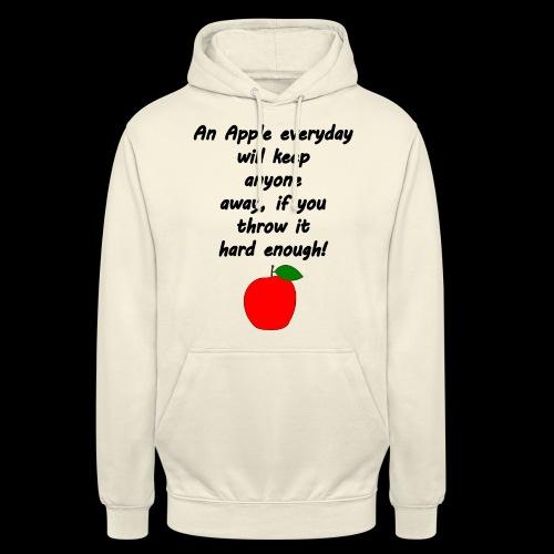 Apple Apfel Doctor Zitat Spruch Lustig - Unisex Hoodie