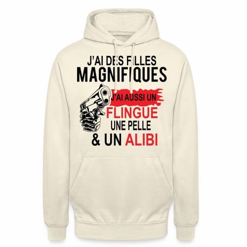 J'AI DEUX FILLES MAGNIFIQUES Best t-shirts 25% - Sweat-shirt à capuche unisexe