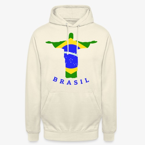 Brasil Flag Statue - Unisex Hoodie
