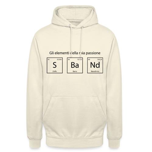 elementi chimici sband - Felpa con cappuccio unisex