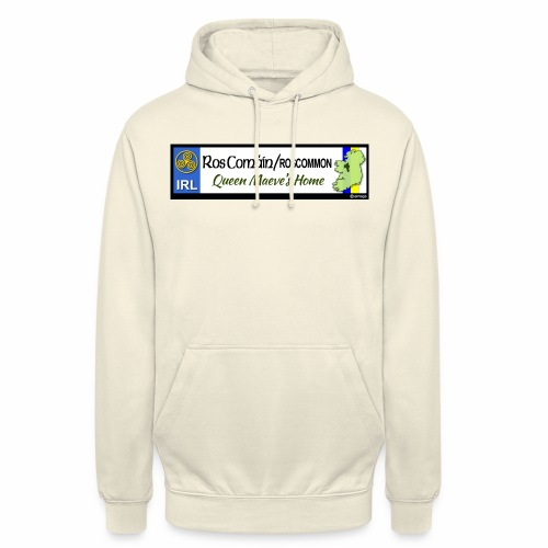 ROSCOMMON, IRELAND: licence plate tag style decal - Unisex Hoodie