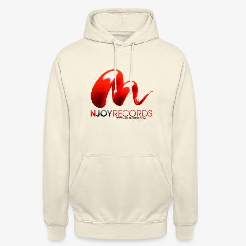 Logo Njoy Records Noir - Sweat-shirt à capuche unisexe