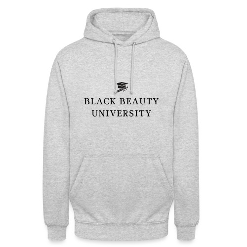 BLACK BEAUTY UNIVERSITY LOGO BLACK - Sweat-shirt à capuche unisexe