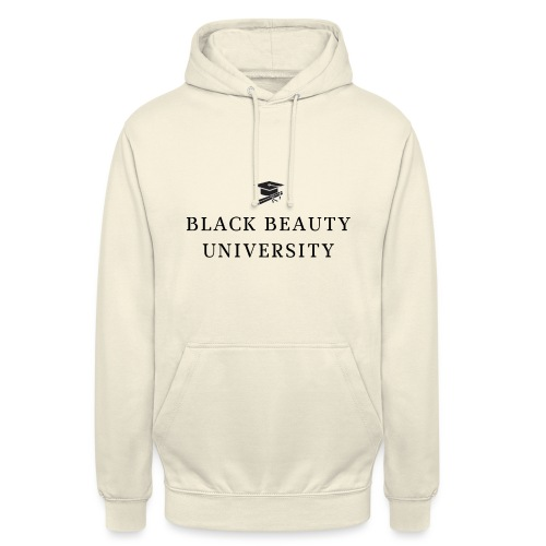 BLACK BEAUTY UNIVERSITY LOGO BLACK - Sweat-shirt à capuche unisexe