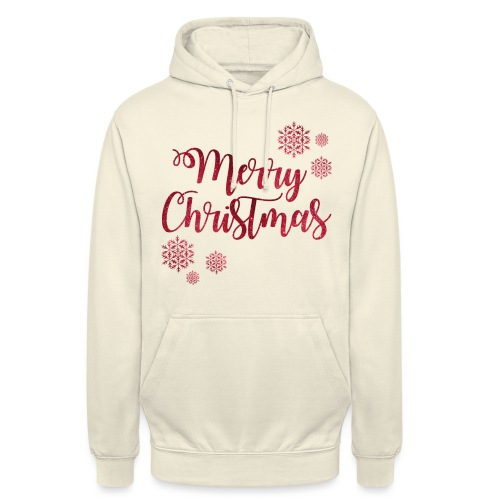 Merry christmas Noël New shape fane design vintage - Sweat-shirt à capuche unisexe