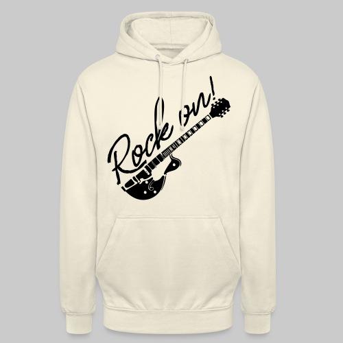 Rock On mit Gitarre - Unisex Hoodie