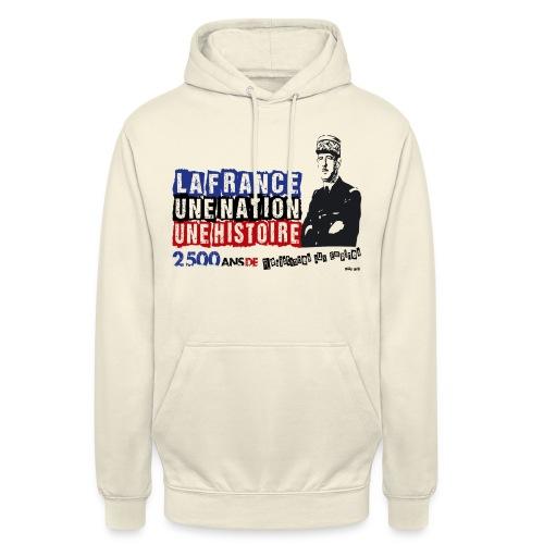 De Gaulle NOIR - Sweat-shirt à capuche unisexe