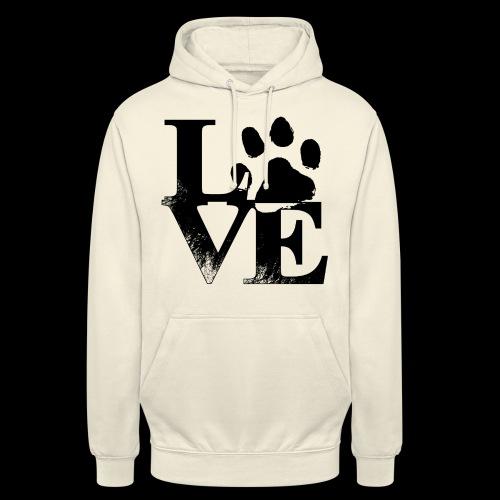 LOVE - Sweat-shirt à capuche unisexe