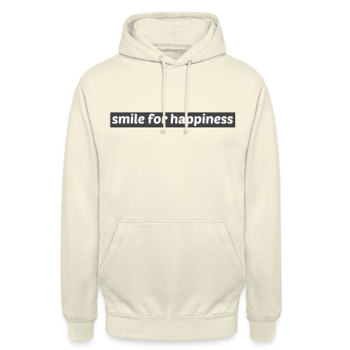 smile for happiness - Luvtröja unisex