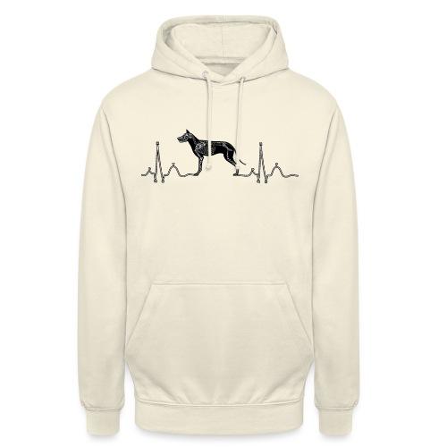 ECG met hond - Hoodie unisex