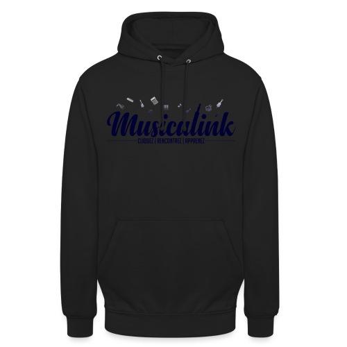 Musicalink blue - Sweat-shirt à capuche unisexe
