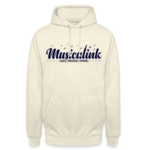 Musicalink blue - Sweat-shirt à capuche unisexe