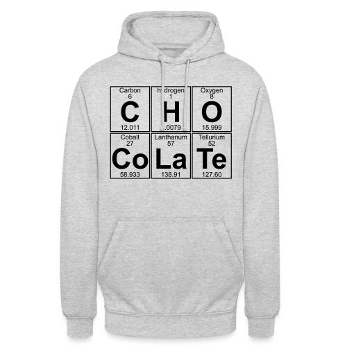 C-H-O-Co-La-Te (chocolate) - Full - Unisex Hoodie