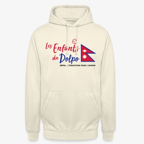 Les Enfants du Doplo - Grand Logo Centré - Sweat-shirt à capuche unisexe
