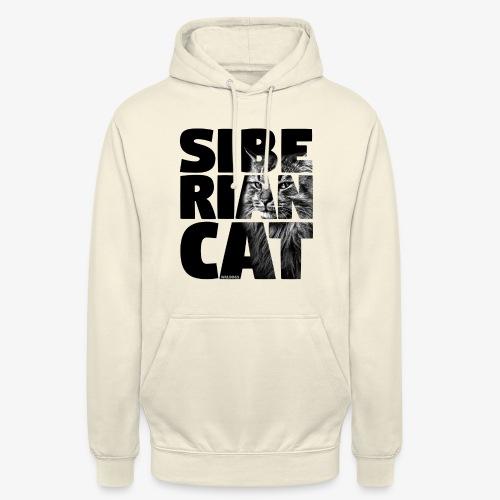 "Siberian Cat Black - Huppari ""unisex"""