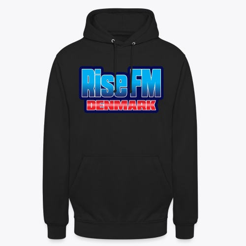 Rise FM Denmark Text Only Logo - Unisex Hoodie