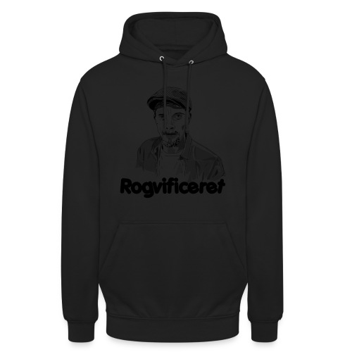 Rogvificeret merch - Sort tekst. - Hættetrøje unisex
