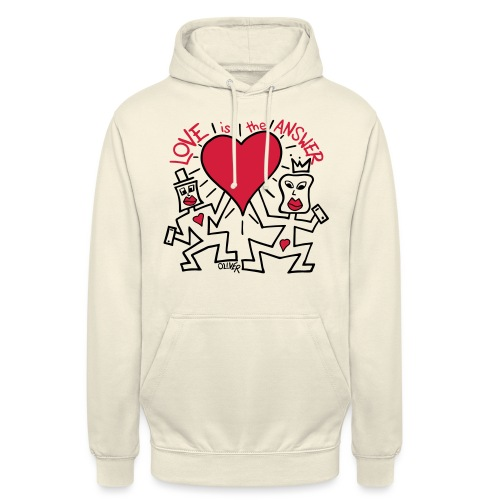 Love is the Answer by Oliver Schibli - Unisex Hoodie