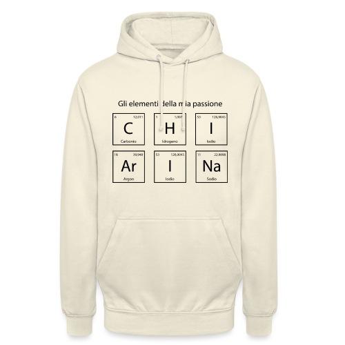 elementi chimici chiarina - Felpa con cappuccio unisex