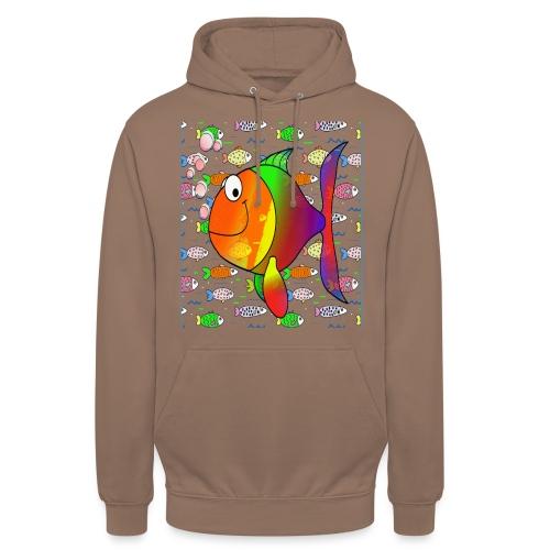 big fish - Sweat-shirt à capuche unisexe
