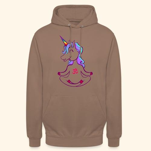 buddhistisches Meditation Einhorn T-Shirt - Unisex Hoodie