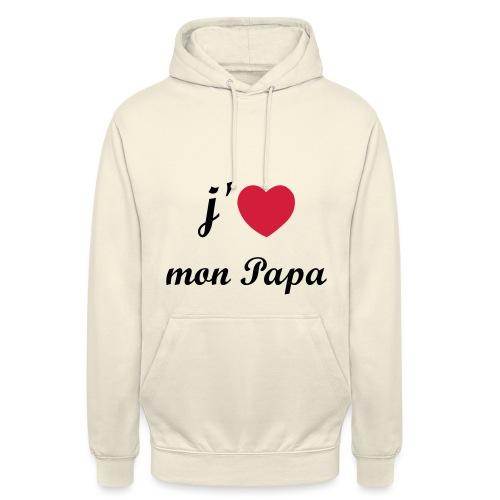 J'aime mon papa - 01 Vecto - Sweat-shirt à capuche unisexe