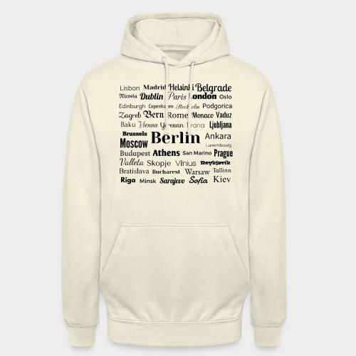 European capitals - Unisex Hoodie